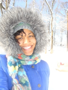 Tanya Harris aka Anonomz in the Snow