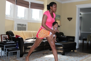 Happy Baby Workout Lunges: Tanya H. Franklin