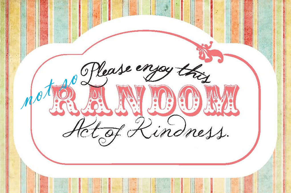 essay on random acts of kindness 13012018  take the topics generated by this same group of peers at a different time: how to reduce american dependability on oil these writers prescribe rules.