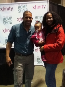 Home Show 2014: Ahmed Hassan, baby Quinn and Tanya Franklin