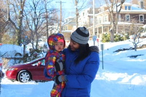 Quinn and Tanya Franklin in the Snow